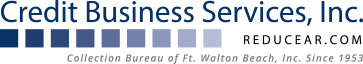Credit Business Services, Inc., of Panama City and Fort Walton Beach in NW FL